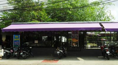 Mái che nhà xe cafe sân vườn