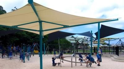 Mái che sân chơi trẻ em